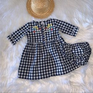 New Carters Embroidered Checked Dress 18M